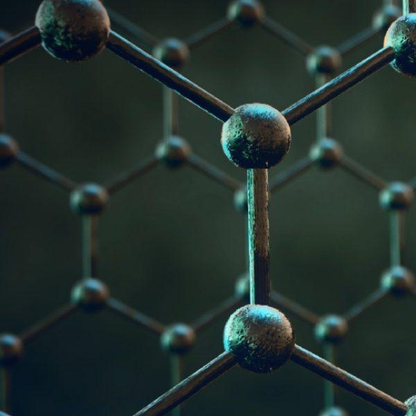 Close up of an molecular structure