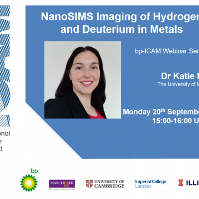 bp-ICAM Webinar: NanoSIMS Imaging of Hydrogen and Deuterium in Metals